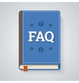 FAQ book in flat style vector image