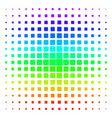 filled square shape halftone spectrum pattern vector image vector image