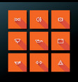 flat car dashboard icon set vector image vector image