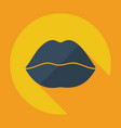 flat modern design with shadow icon lips vector image vector image