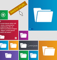 Folder icon sign buttons Modern interface website vector image