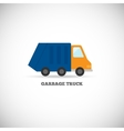 Garbage truck isolated vector image vector image