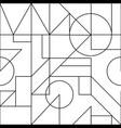 geometric line seamless pattern vector image vector image