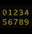 golden broken numbers vector image