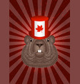groundhog day concept national holiday in canada vector image vector image