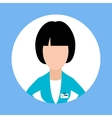 Icon Doctor Dentist Woman Flat Design vector image vector image