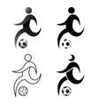 icon prayer soccer football flat design simple vector image