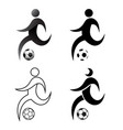 icon prayer soccer football flat drsign simple vector image vector image