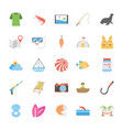 icons set of ocean and sea life vector image