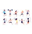 kids activities athletics children active boy vector image vector image