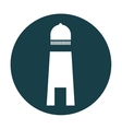 lighthouse beach isolated icon vector image