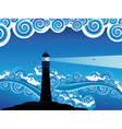 Lighthouse in the Sea7 vector image vector image