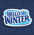 logo for winter vector image vector image