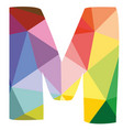 m colorful letter isolated on white background vector image vector image