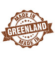 made in greenland round seal vector image vector image