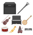musical instruments set icons in cartoon style vector image vector image