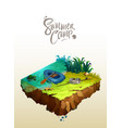 natural landscape with holiday camp vector image vector image