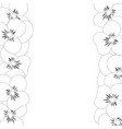 pansy flower border outline vector image vector image