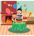 Parents Give Her Son a Dog for his Birthday vector image vector image