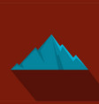 pointing mountain icon flat style vector image vector image