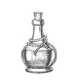 poison bottle with cork cap monochrome vector image