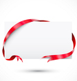 Promo tag Paper with ribbon vector image vector image