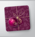 purple christmas gift box card abstract vector image