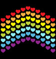 rainbow flag line backdrop heart shape lgbt gay vector image vector image