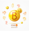 realistic detailed 3d vitamin b12 card concept vector image vector image