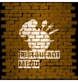 restaurant menu template on a background brick vector image vector image