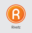 rivetz cryptocurrency rvt graphic symbol vector image