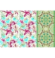 Seamless floral patterns set Vintage flowers vector image vector image