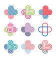 set decorative isolated logos crosses vector image vector image