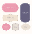 set of vintage frame labels vector image