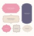 set of vintage frame labels vector image vector image