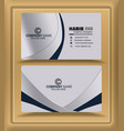 silver embossed effect visiting card business card vector image vector image