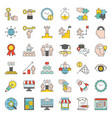 start up and success entrepreneur related icon vector image vector image
