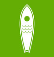 surfboard icon green vector image vector image