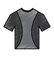 t shirt uniform sport clothes icon vector image vector image