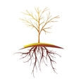 Tree With Root Isolated Retro Cartoon vector image vector image