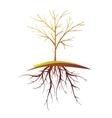 Tree With Root Isolated Retro Cartoon vector image