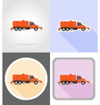 truck flat icons 15 vector image vector image