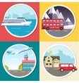 Variations transport of travel vacation tour vector image vector image