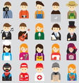 Various People Symbol Icons Occupation and Artisan vector image