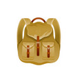 vintage backpack icon 3d travel bag design vector image