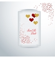 wedding invitation or greeting valentine day card vector image vector image