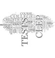 what is clep text word cloud concept vector image vector image