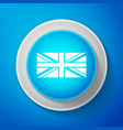 white flag of great britain icon isolated vector image