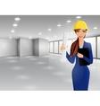 Woman engineer portrait vector image vector image