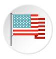 american flag icon circle vector image